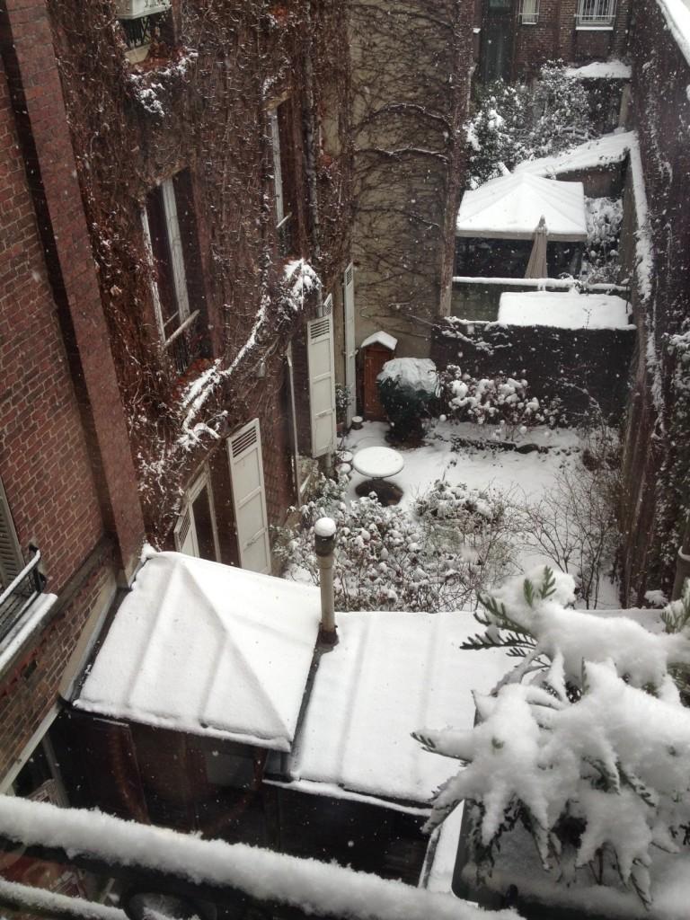 neve cortile